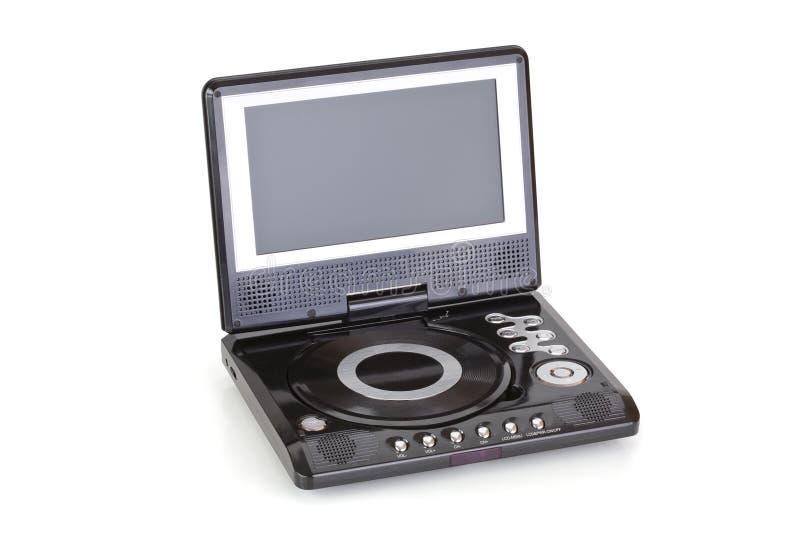 Beweglicher DVD-Spieler stockbild
