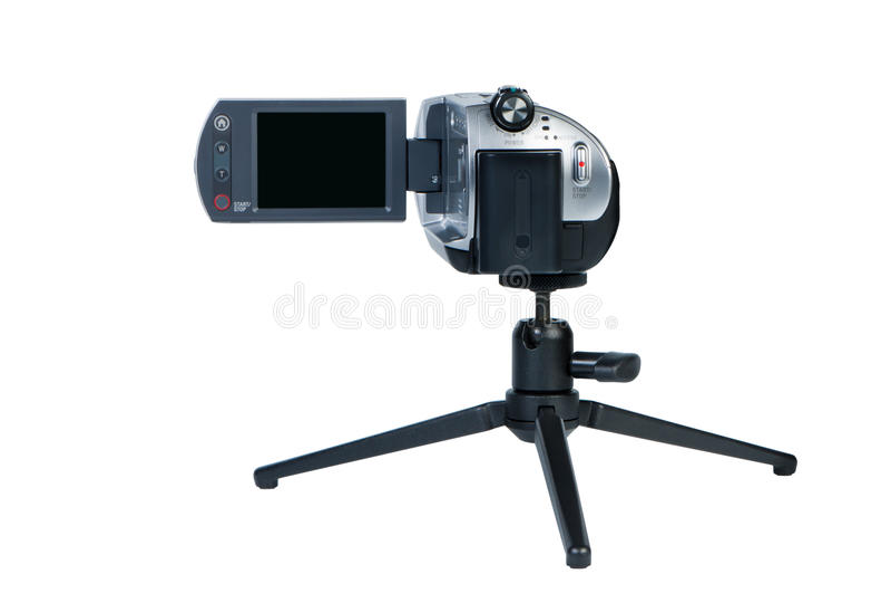 Beweglicher Kamerarecorder mit LSD-Bildschirmanzeige. lizenzfreies stockfoto