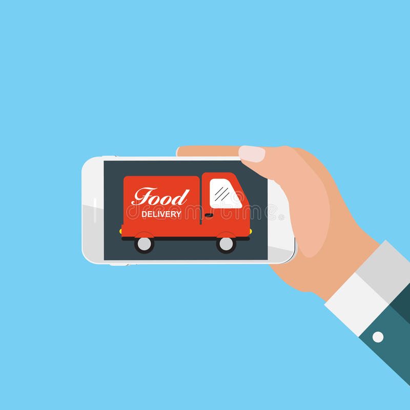 Download Bewegliches Apps-Konzept-on-line-Lebensmittel-Lieferung, Einkaufen, E-Commerce I Vektor Abbildung - Illustration von mittagessen, einfluß: 90230388