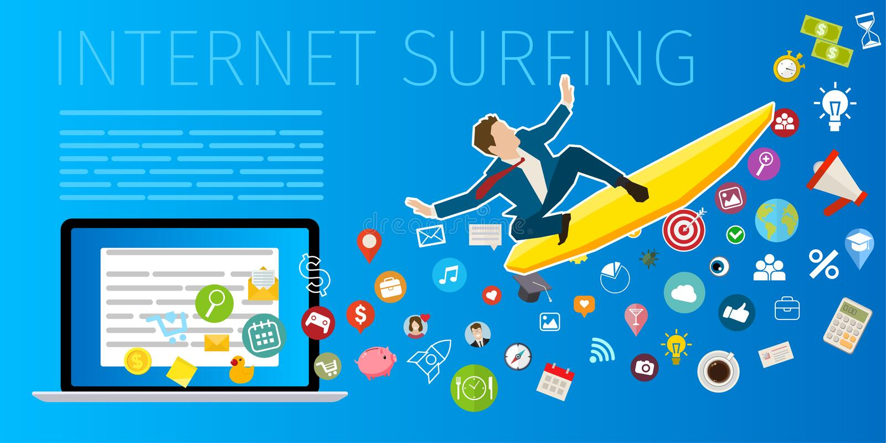 Bewegliches Internet-Surfen der schnellen Geschwindigkeit vektor abbildung