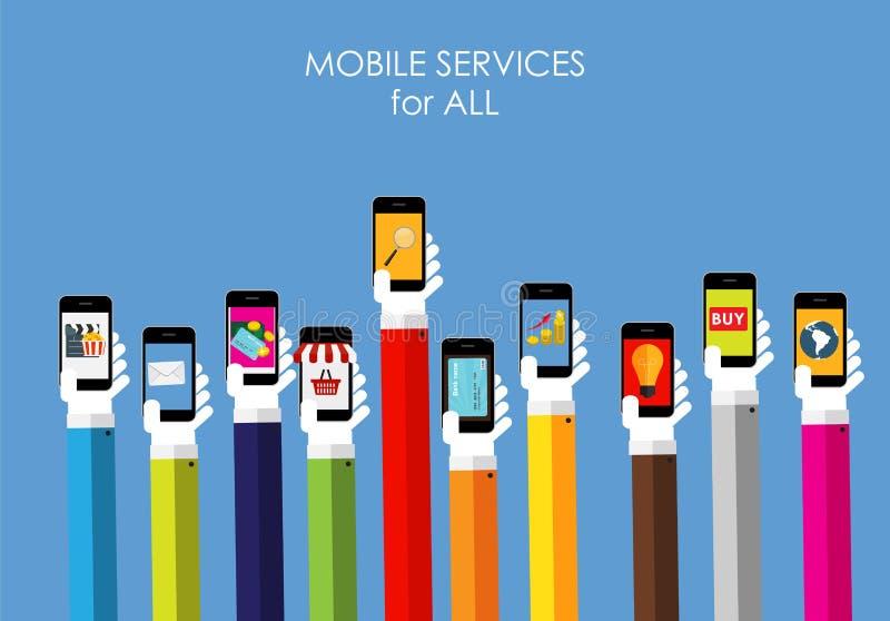 Bewegliches Service-Ebenen-Konzept für Netz-Marketing vektor abbildung