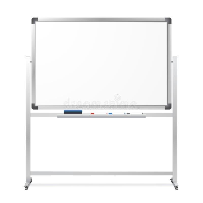 Bewegliches trockenes Löschen des freien Raumes magnetisches whiteboard stock abbildung