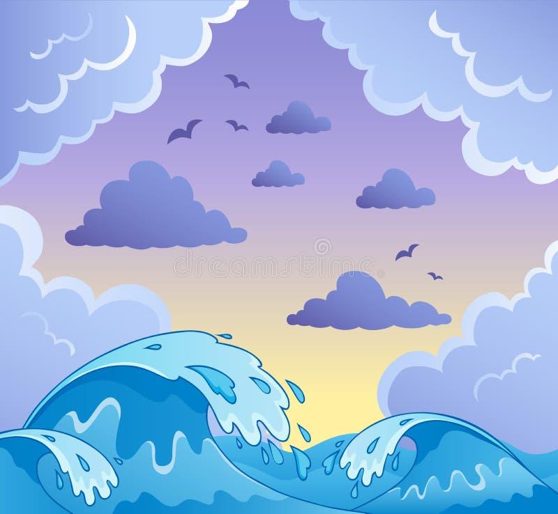 Bewegt Themabild 2 Wellenartig Stockbilder