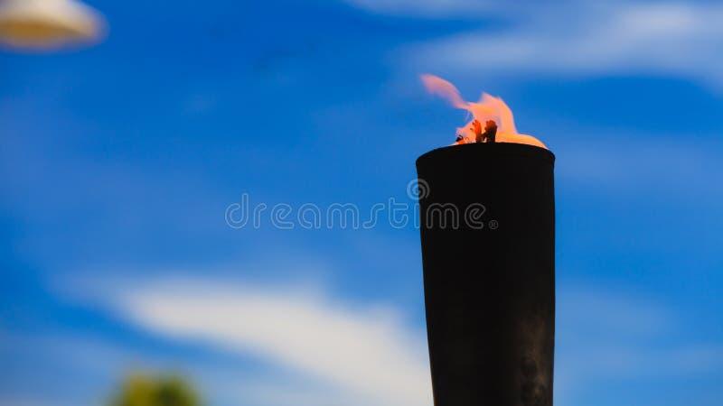 Bewegung der Feuerflamme lizenzfreies stockfoto