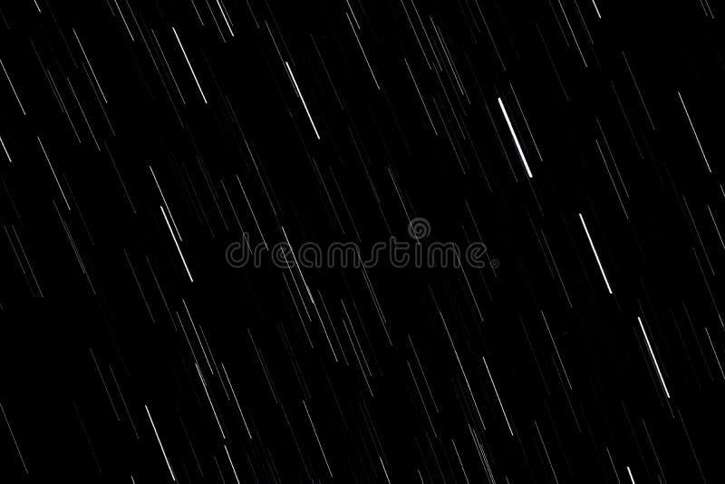 Bewegung der Sterne nachts stock abbildung