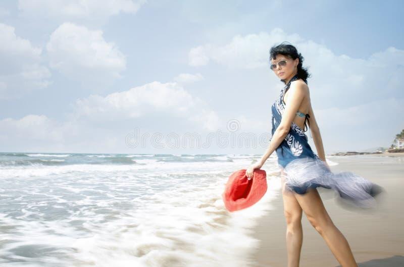 Bewegung am Strand lizenzfreie stockfotos
