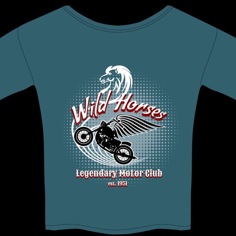 Bewegungsclubt-shirt Mitgliedschaftsdesign lizenzfreie abbildung