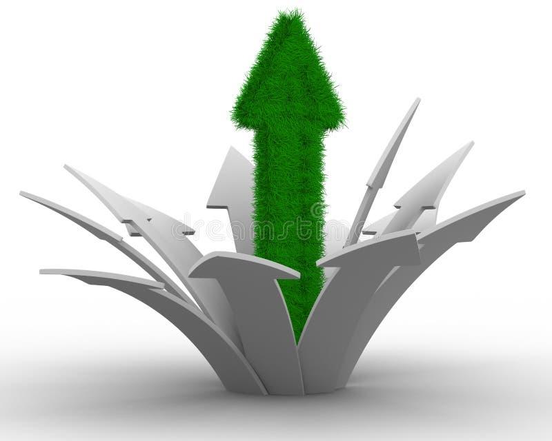 Bewegungsrichtung zum Erfolg vektor abbildung