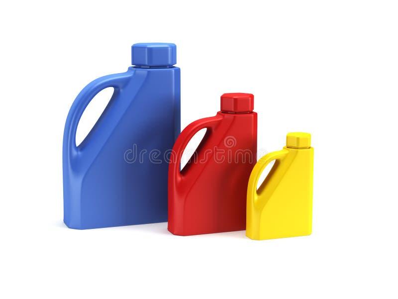 Bewegungsschmierölflasche getrenntes rende 3d lizenzfreie abbildung