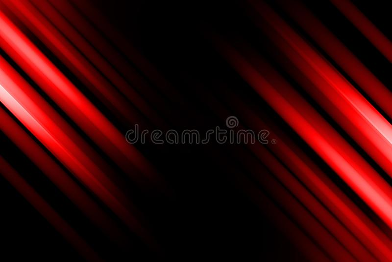 Bewegungsunsch?rfe auf rotem und schwarzem abstraktem Hintergrund stock abbildung