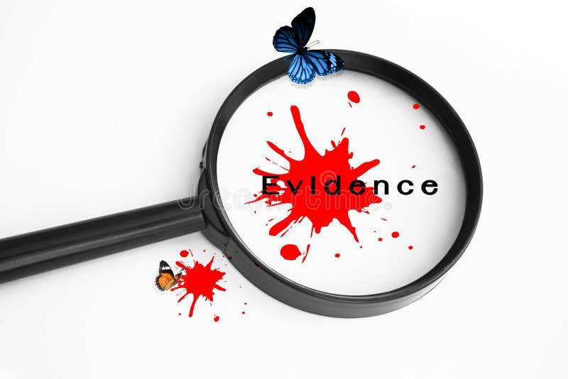 Beweis-Konzept-Hintergrund stockfoto