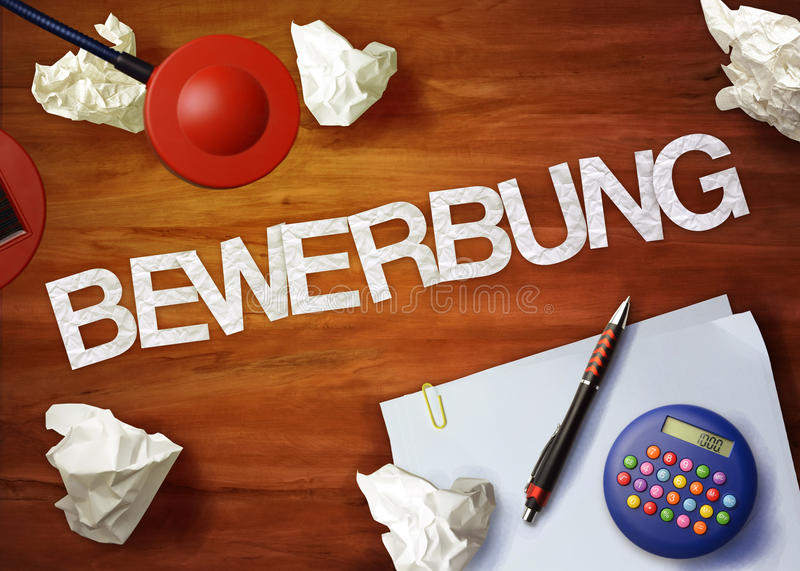 Bewerbung桌面备忘录计算器办公室认为组织 免版税库存图片