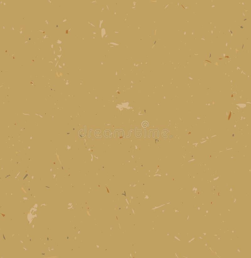Bewerkt document De naadloze Textuur van het Karton Vectorgrungeontwerp voor kaarten, behang, achtergronden vector illustratie