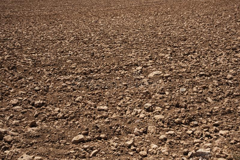 Bewerkt droog land stock fotografie