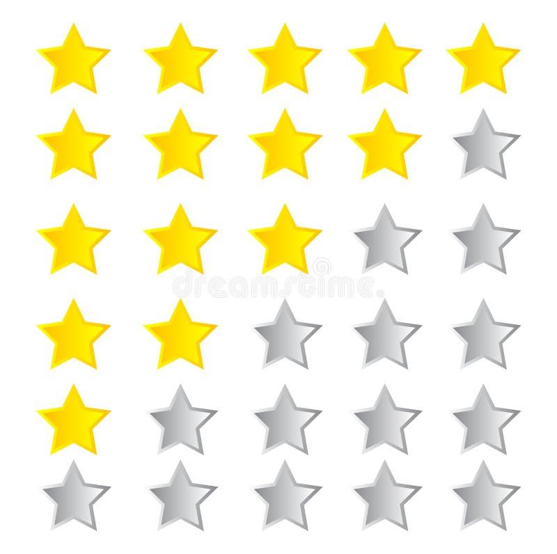 Bewertende Sterne stock abbildung
