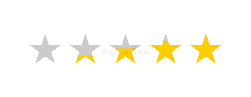 Bewertende Sterne Sternberichtbewertung Feedback-Konzept Kunden-Produktbewertungsbericht mit f?nf Sternen vektor abbildung