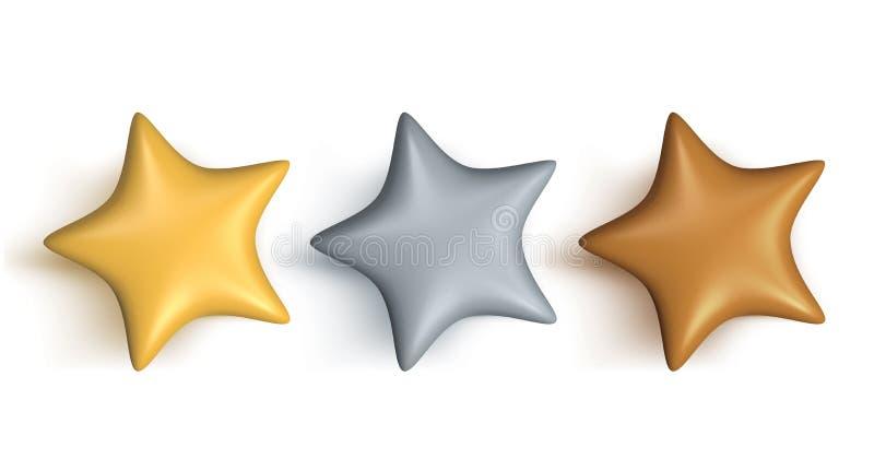 Bewertungs-Sterne lizenzfreies stockbild