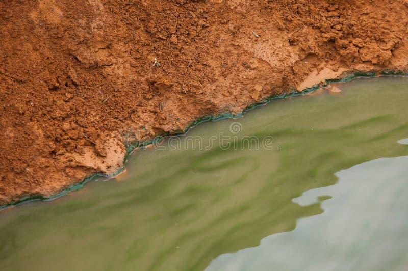 Bewijs, duidelijk van watervervuiling stock foto