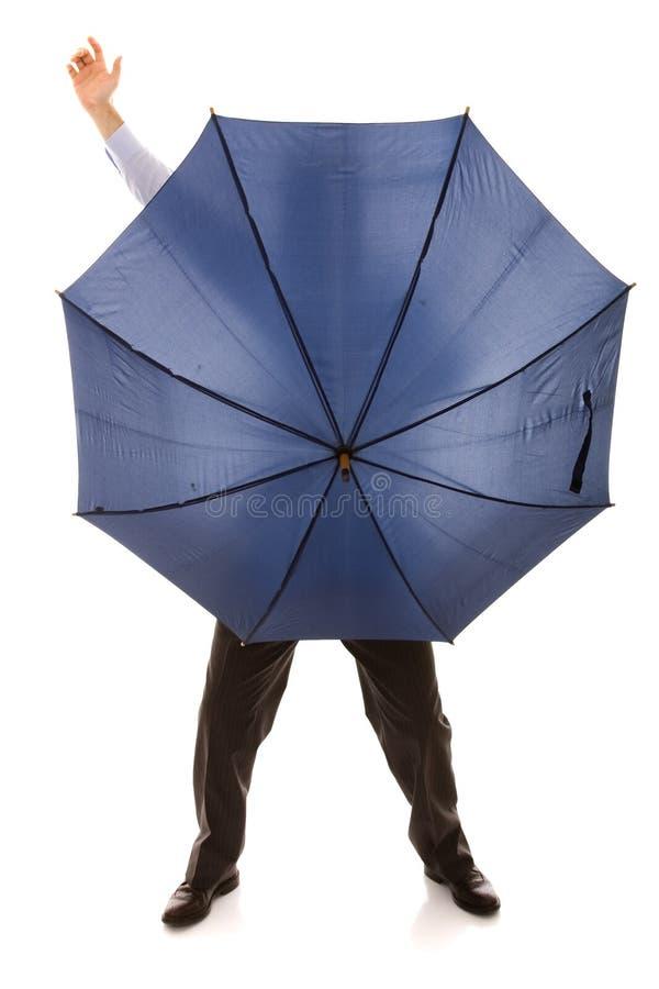 Bewind Escondendo Um Guarda-chuva Imagens de Stock Royalty Free