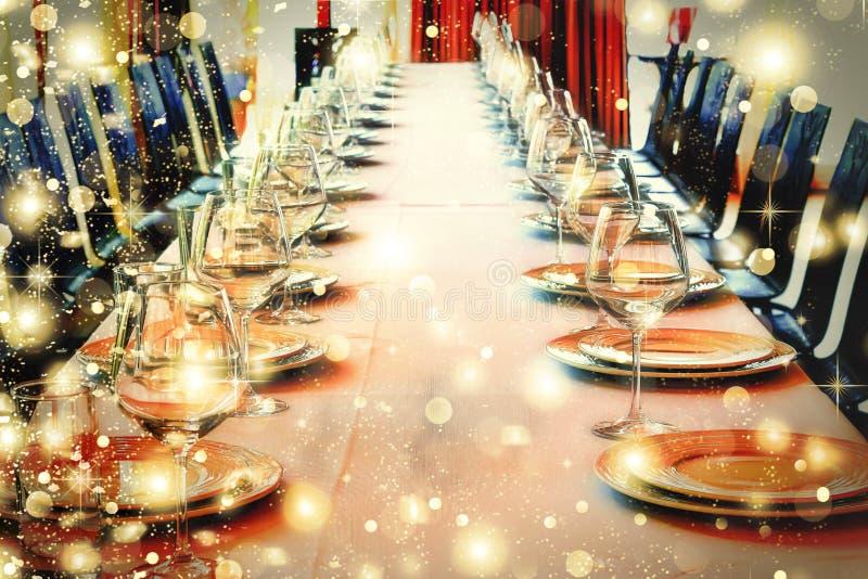 Bewirten Sie Halle, Halloween, Weihnachten, Service in einem Restaurant, Co festlich lizenzfreie stockfotos