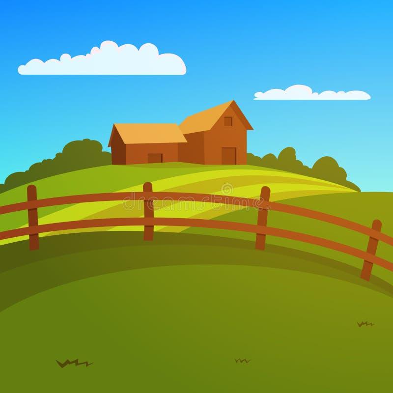 Bewirtschaften Sie Landschaft stock abbildung