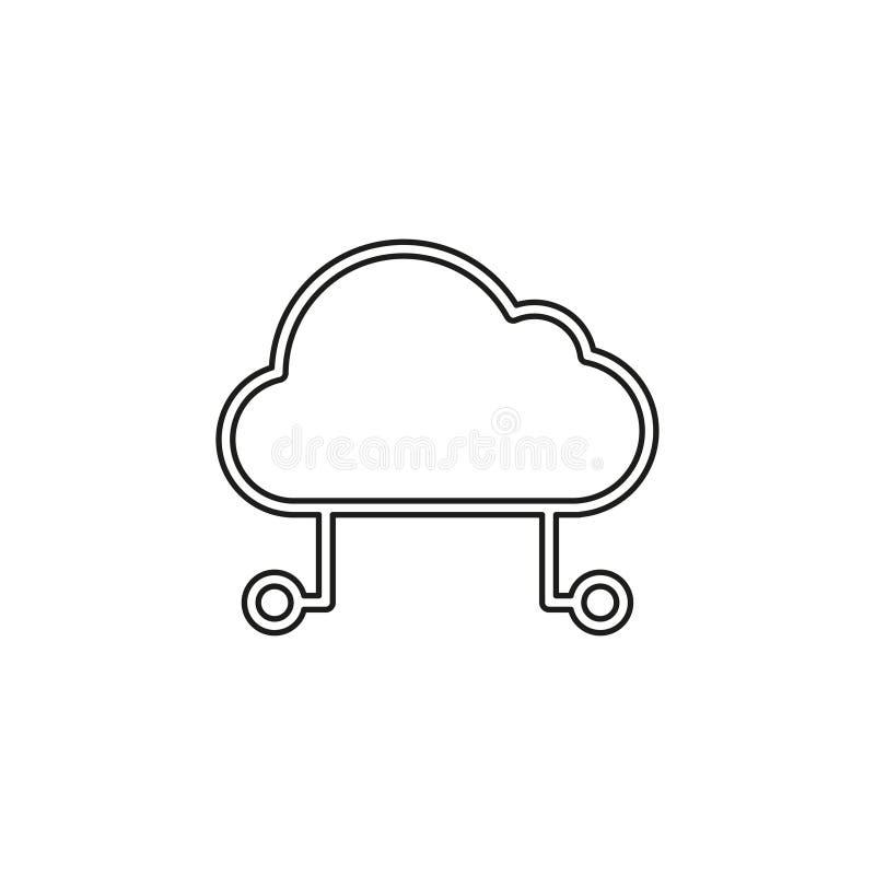 Bewirtung der Wolkenikone, Komputertechnologie der Wolke vektor abbildung