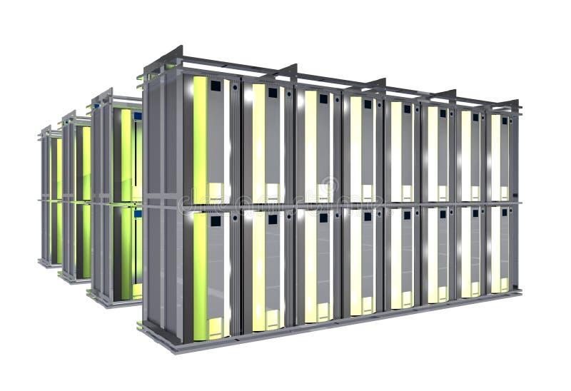 Bewirtung Raum - Server-Zahnstangen stock abbildung