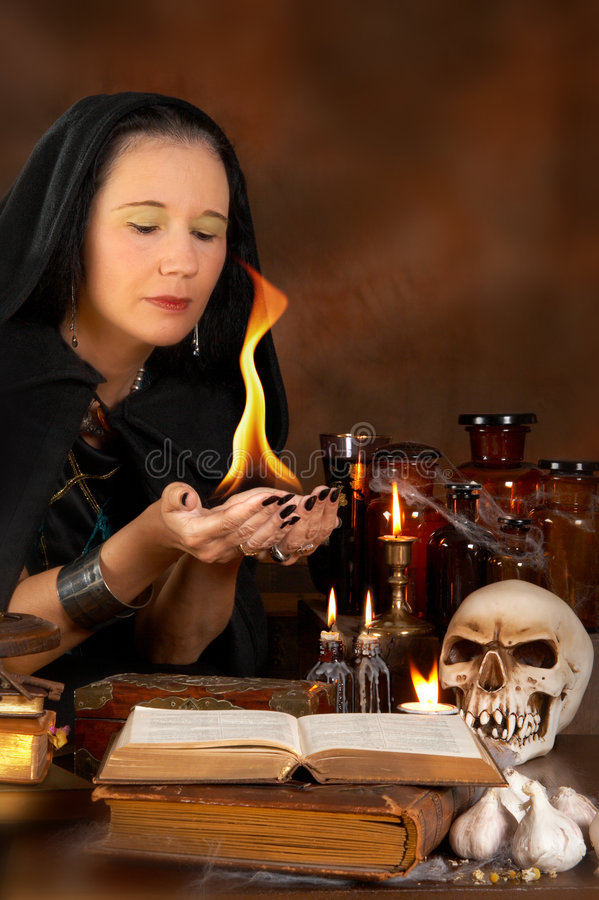 Bewitched fire royalty free stock photo