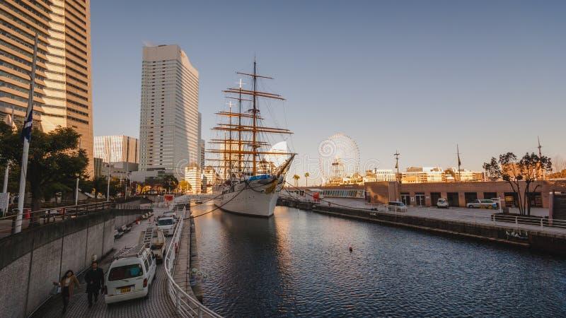 ` ` Bewohners von Nippon Maru Schiff, Yokohama lizenzfreie stockfotografie