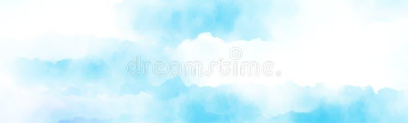 bewolking boven de wolk die watercolour schilderen royalty-vrije illustratie