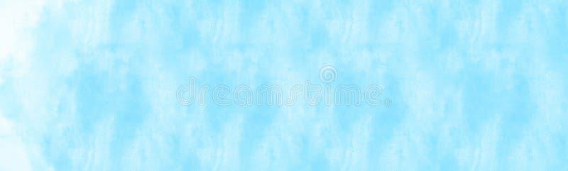 bewolking boven de wolk die watercolour schilderen stock illustratie