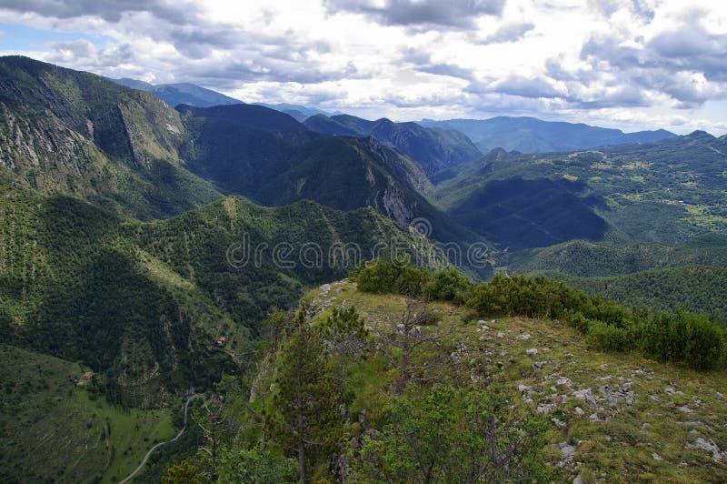 Bewolkt landschap van Mirador DE Gresolet spanje royalty-vrije stock foto's