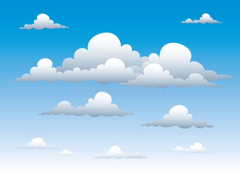 Bewolkte hemel vector illustratie