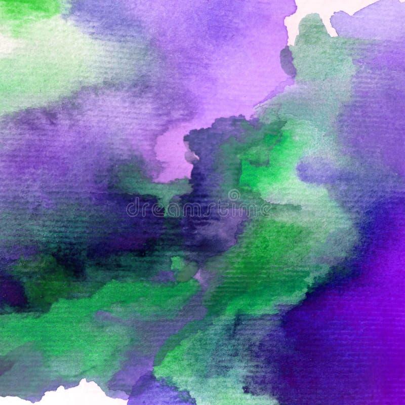 Bewolkte hemel van de van de achtergrond waterverfkunst de abstracte natte was kleurrijke geweven ochtend stock illustratie