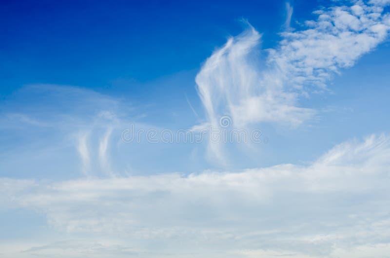 Bewolkte hemel vliegende Vogel royalty-vrije stock afbeelding