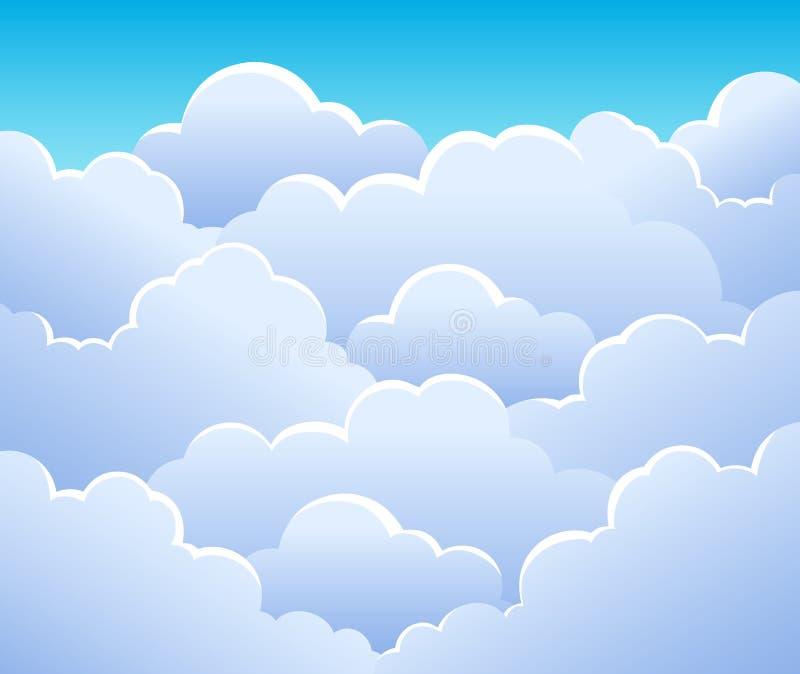 Bewolkte hemelachtergrond 3 royalty-vrije illustratie