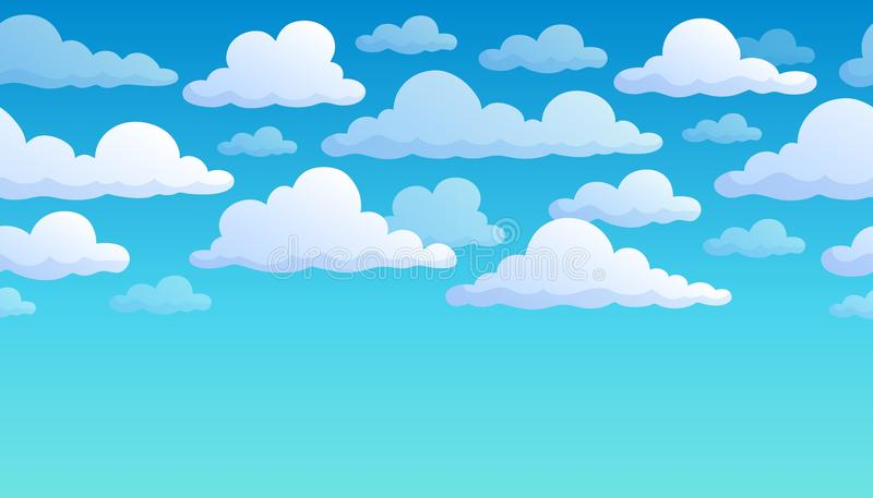 Bewolkte hemelachtergrond 7 stock illustratie