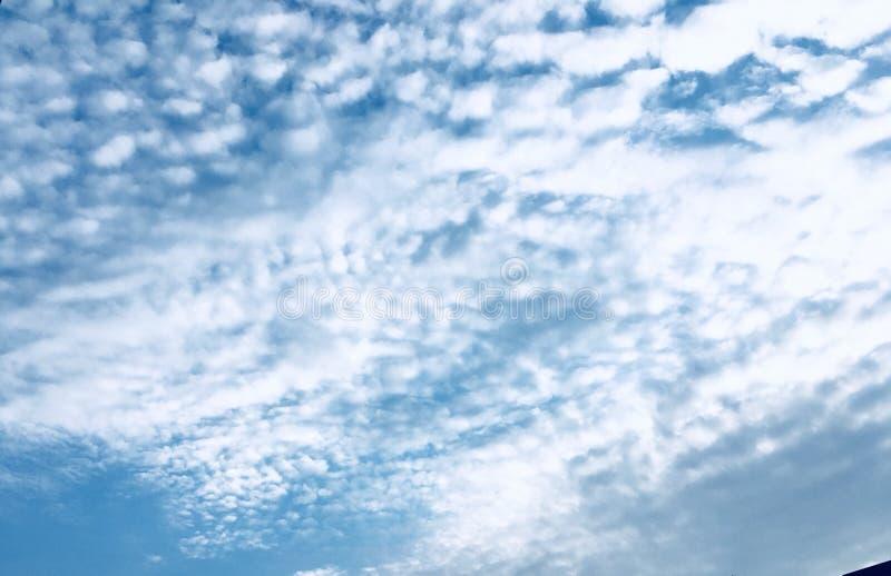 Bewolkte ochtendhemel stock afbeelding