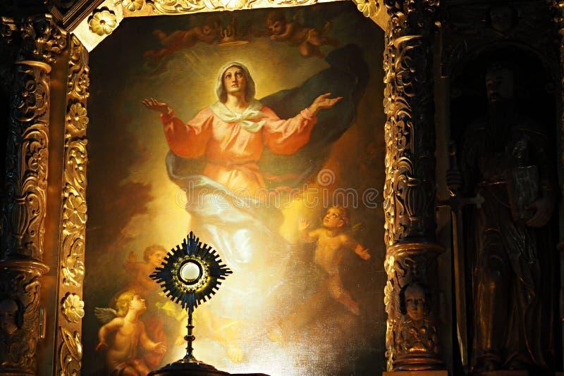 Bewondering van het Heilige Sacrament stock afbeelding