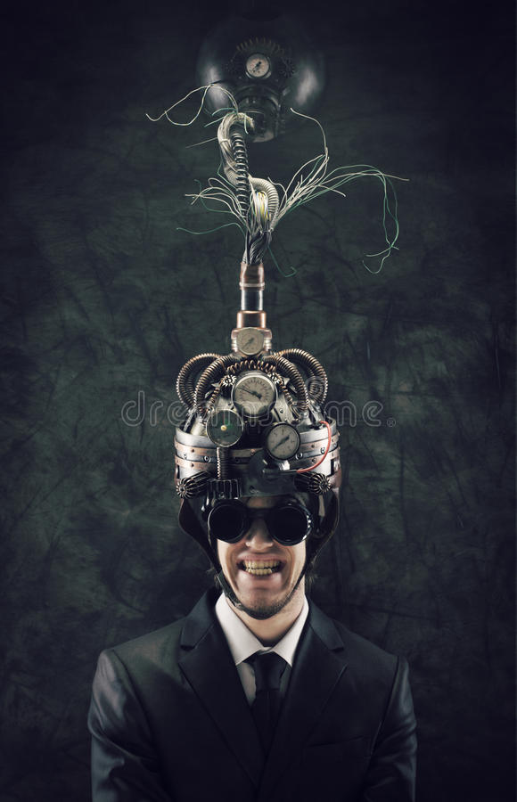 Bewusstseinskontrolle stockfoto