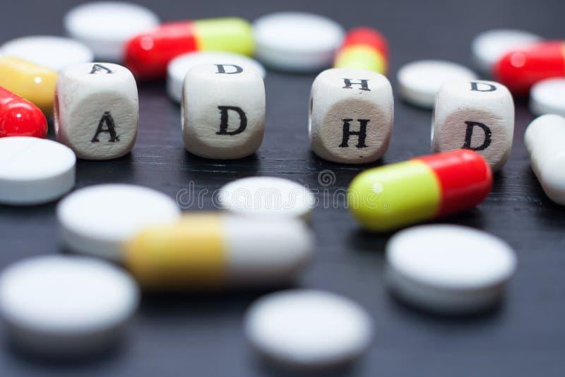 Bewusstseinskonzept der psychischen Gesundheit für ADHD stockfoto