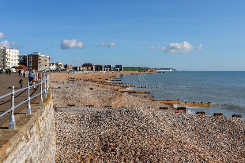 BEXHILL-ON-SEA ÖSTLIG SUSSEX/UK - OKTOBER 17: Sikt av seafroen arkivbilder