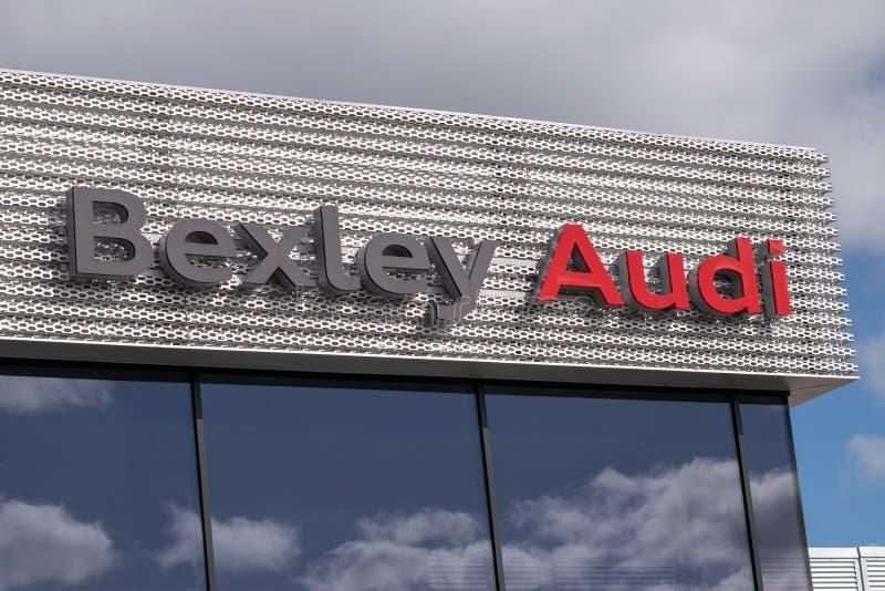 Bexley, Kent/Reino Unido - 25 de marzo de 2019: Logotipo de la representación de Audi fotografía de archivo