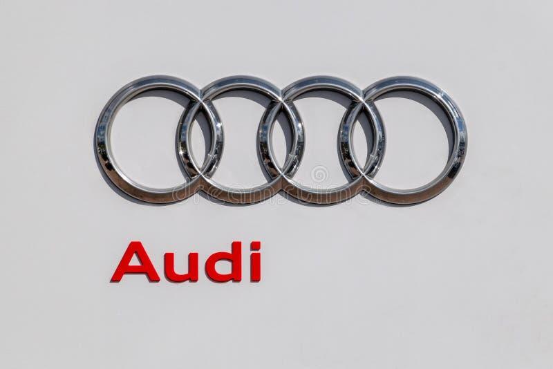 Bexley, Kent/Reino Unido - 25 de marzo de 2019: Logotipo de la representación de Audi fotos de archivo