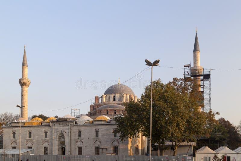 Beyazit Mosque, Costantinopoli fotografia stock libera da diritti