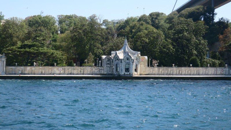 Beylerbeyi pałac, Istanbuł cieśnina, indyk fotografia stock