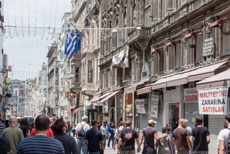 Beyoglu Istanbul Turkiet royaltyfri bild