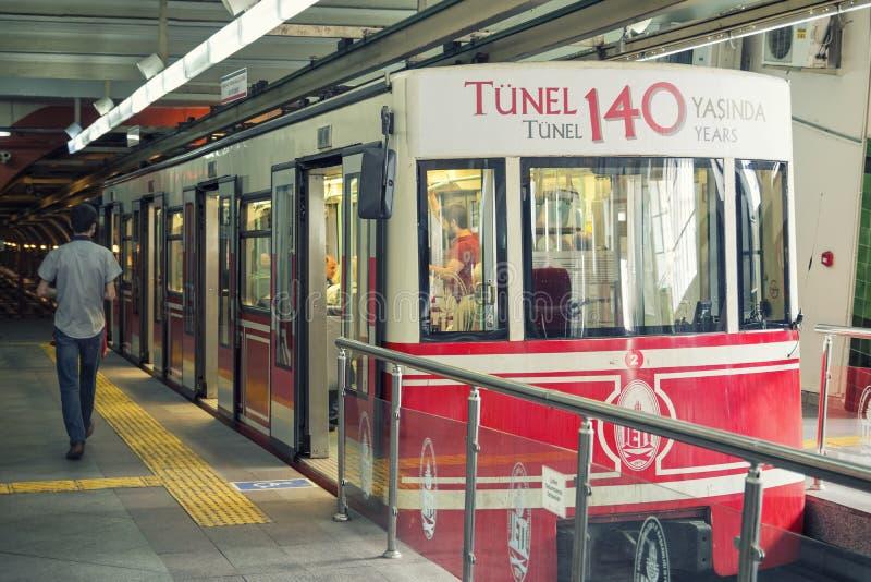 Beyoglu Tunel stacja, Istanbuł, Turcja fotografia stock