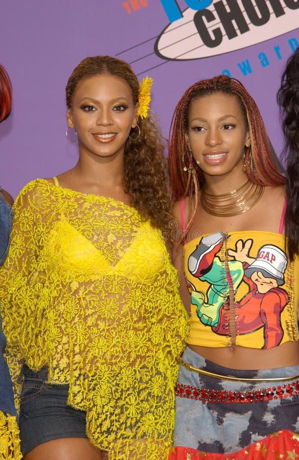 Beyonce Knowles, Destiny's Child, Solange photographie stock