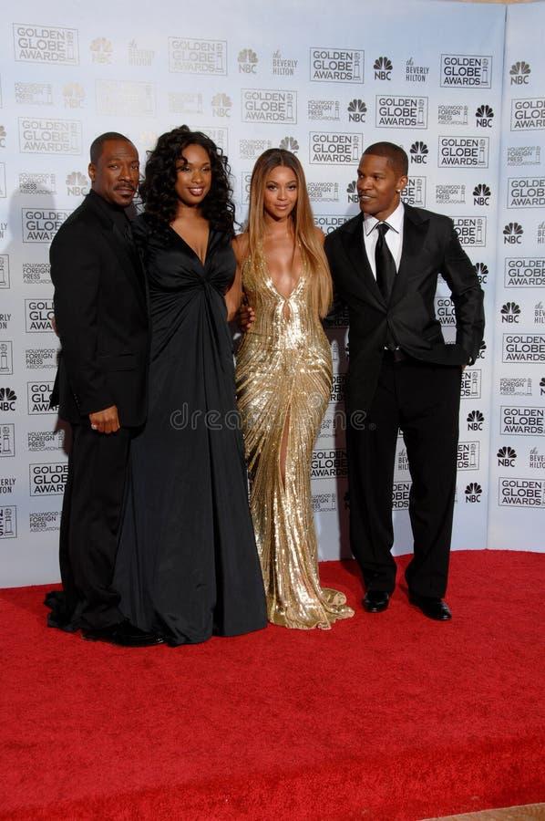 Beyonce Knowles, Eddie Murphy, Jamie Foxx, Jennifer Hudson images stock
